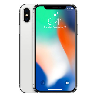Apple iPhone X 256GB Silver Mobil