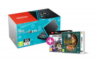 New Nintendo 2DS XL (Black-Turquoise) + Fire Emblem Warriors + Layton's Mystery Journey 3DS