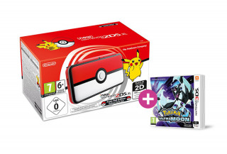 New Nintendo 2DS XL Pokeball Edition + Pokemon Ultra Moon 3DS