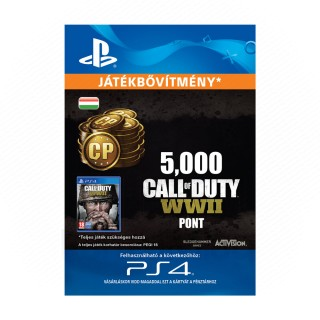 5,000 Call of Duty®: WWII Points - ESD HUN (Letölthető) PS4