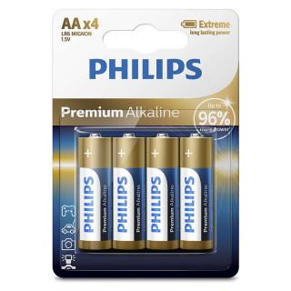 Philips Premium Alkaline AA 4-blister (LR6M4B/10) PC