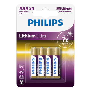 Philips Lithium Ultra Alkaline AAA 4-blister (FR03LB4A/10) PC