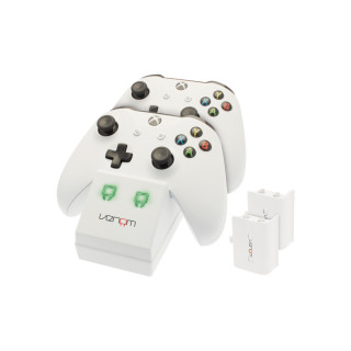 Venom VS2859 Xbox One fehér töltőállomás + 2db akkumulátor XBOX ONE