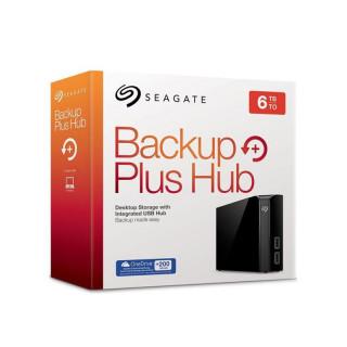 Seagate Backup Plus Hub 3.5'' külső merevlemez, 6TB USB3.0, fekete (STEL6000200) PC