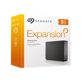 Seagate Expansion 3.5'' külső merevlemez, 3TB, USB 3.0, fekete (STEB3000200) PC