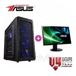 V4 Gamer konfiguráció (Powered by ASUS) + Asus Gamer Monitor PC