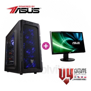 V4 Gamer konfiguráció (Powered by ASUS) + Asus Gamer Monitor (Használt) PC