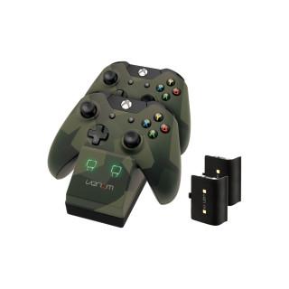 Venom VS2857 Xbox One camouflage töltőállomás + 2db akkumulátor Xbox One