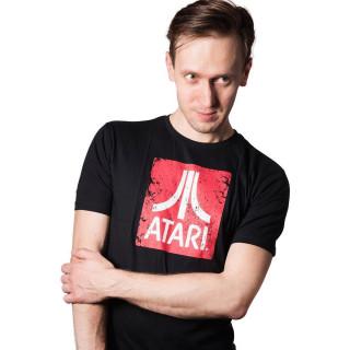 Atari Logo - Fekete Póló - Good Loot (S-es méret) AJÁNDÉKTÁRGY