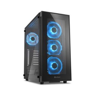Sharkoon TG5 LED (Ablakos) - Fekete-Kék (4044951020584) PC