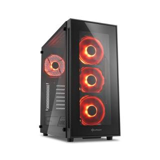 Sharkoon TG5 LED (Ablakos) - Fekete-Piros (4044951020560) PC