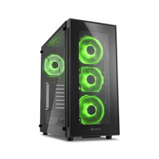 Sharkoon TG5 LED (Ablakos) - Fekete-Zöld (4044951020577) PC