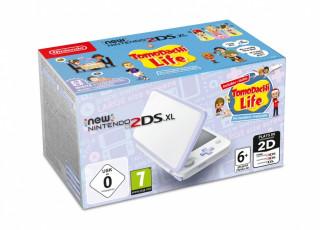 New Nintendo 2DS XL (Fehér & Levendula) + Tomodachi Life 3DS