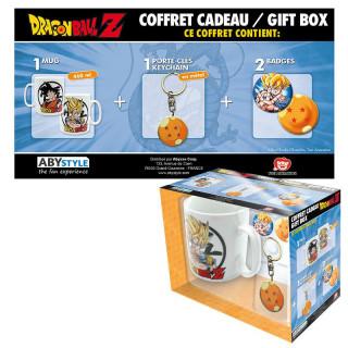 DRAGON BALL - Bögre + Kulcstartó + Kitűzők - Dragon Ball (460ml)  Ajándéktárgyak