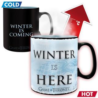 GAME OF THRONES - Hőérzékeny Bögre - Winter is here (460ml) AJÁNDÉKTÁRGY