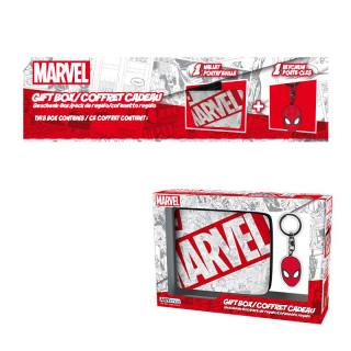 MARVEL - Pénztárca + Kulcstartó - Marvel Spiderman AJÁNDÉKTÁRGY