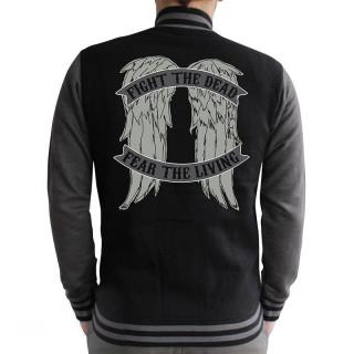 THE WALKING DEAD - Baseball Dzseki - Angel Wings (XL-es méret) AJÁNDÉKTÁRGY