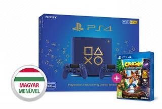 PlayStation 4 (PS4) Slim 500GB Days of Play Limited Edition két kontrollerrel PS4