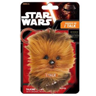 STAR WARS - Chewbacca - Plüss mini kulcstartó (beszélő - 17cm) AJÁNDÉKTÁRGY