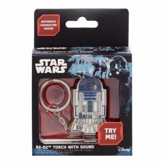 STAR WARS - R2-D2 Világítós Kulcstartó (hangeffekttel) AJÁNDÉKTÁRGY