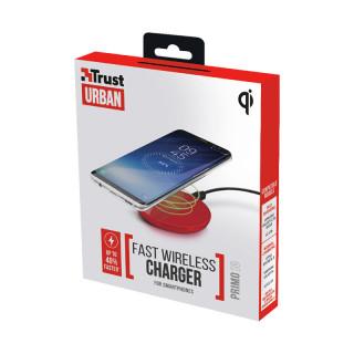 Trust 22863 Primo10 Fast gyors vezeték nélküli okostelefon töltő (Piros) Mobil