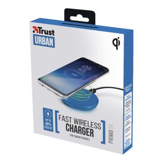 Trust 22862 Primo10 Fast gyors vezeték nélküli okostelefon töltő (Kék) Mobil
