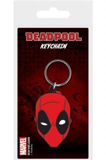 Marvel - Gumi kulcstartó - Deadpool Face (6 cm) AJÁNDÉKTÁRGY