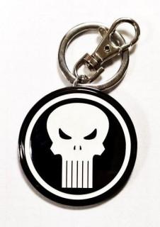 Marvel - Fém kulcstartó - Punisher Logo AJÁNDÉKTÁRGY