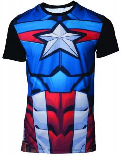 Marvel - Szublimációs póló - Captain America (XL-es méret) AJÁNDÉKTÁRGY