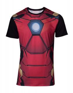 Marvel - Szublimációs póló - Iron Man (L-es méret) AJÁNDÉKTÁRGY