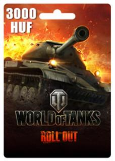 World of Tanks Feltöltőkártya 3000HUF PC