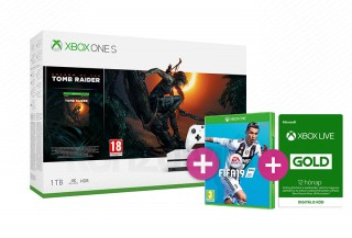 Xbox One S 1TB + Shadow of the Tomb Raider + FIFA 19 Xbox One