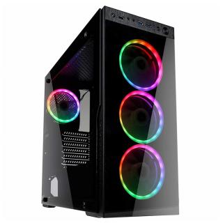 Kolink Horizon RGB ATX Edzett üveg Fekete számítógépház PC