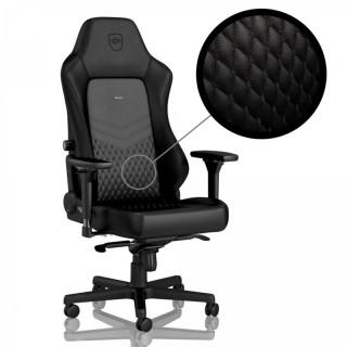 Noblechairs HERO BŐR Fekete/Fekete Gamer szék PC