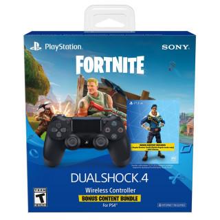 Playstation 4 (PS4) Dualshock 4 kontroller (Fekete) + Fortnite bónusz tartalom PS4