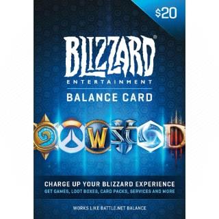 Blizzard - Battle.net feltöltő kártya 20€ PC