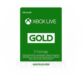 Akciós 3 hónapos Live előfizetés (gép mellé) XBOX ONE