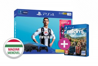 PlayStation 4 (PS4) Slim 1TB + FIFA 19 + DualShock 4 kontroller + Far Cry 5 PS4