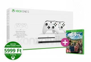 Xbox One S 1TB két kontrollerrel + Far Cry 5 XBOX ONE