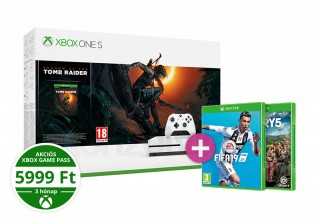 Xbox One S 1TB + Shadow of the Tomb Raider + FIFA 19 + Far Cry 5 XBOX ONE