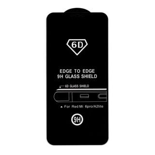 Xiaomi Mi A2 Lite 6D Full Glue Prémium minőségű üvegfólia (Fekete) Mobil