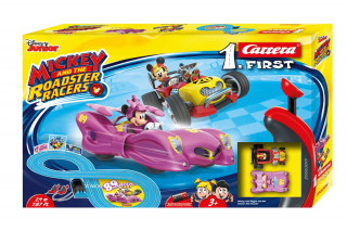 Carrera First: Mickey Roadstar Racer - Minnie 2,4m versenypálya autókkal AJÁNDÉKTÁRGY
