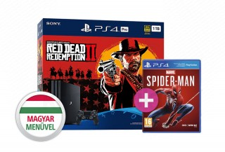 PlayStation 4 Pro (PS4) 1TB + Red Dead Redemption 2 + Spider-Man PS4