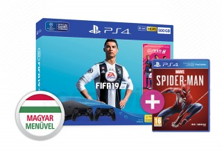 PlayStation 4 (PS4) Slim 1TB + FIFA 19 + DualShock 4 kontroller + Spider-Man PS4