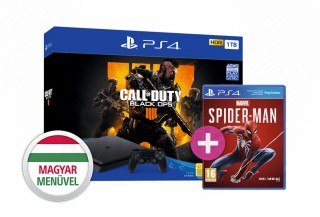 PlayStation 4 (PS4) Slim 1TB + Call of Duty: Black Ops 4 + Spider-Man PS4
