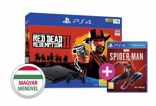 PlayStation 4 (PS4) Slim 1TB + Red Dead Redemption 2 + Spider-Man PS4