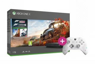 Xbox One X 1TB + Forza Horizon 4 + Forza Motorsport 7 + második kontroller (fekete) XBOX ONE