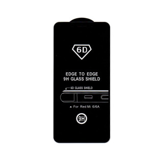 Xiaomi Redmi 6/6A 6D Full Glue Prémium minőségű üvegfólia (Fekete) Mobil