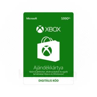 Xbox LIVE Ajándékkártya 5990 HUF (Letölthető) MULTI