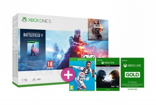 Xbox One S 1TB + Battlefield V + FIFA 19 + Halo 5 + 12 hónapos Live Gold tagság XBOX ONE